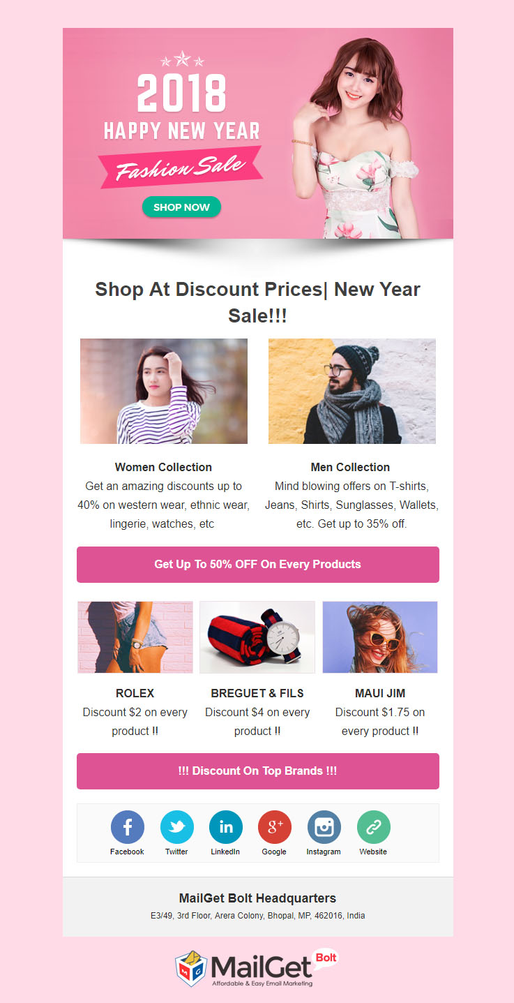 new year email templates get more clothing sale this season