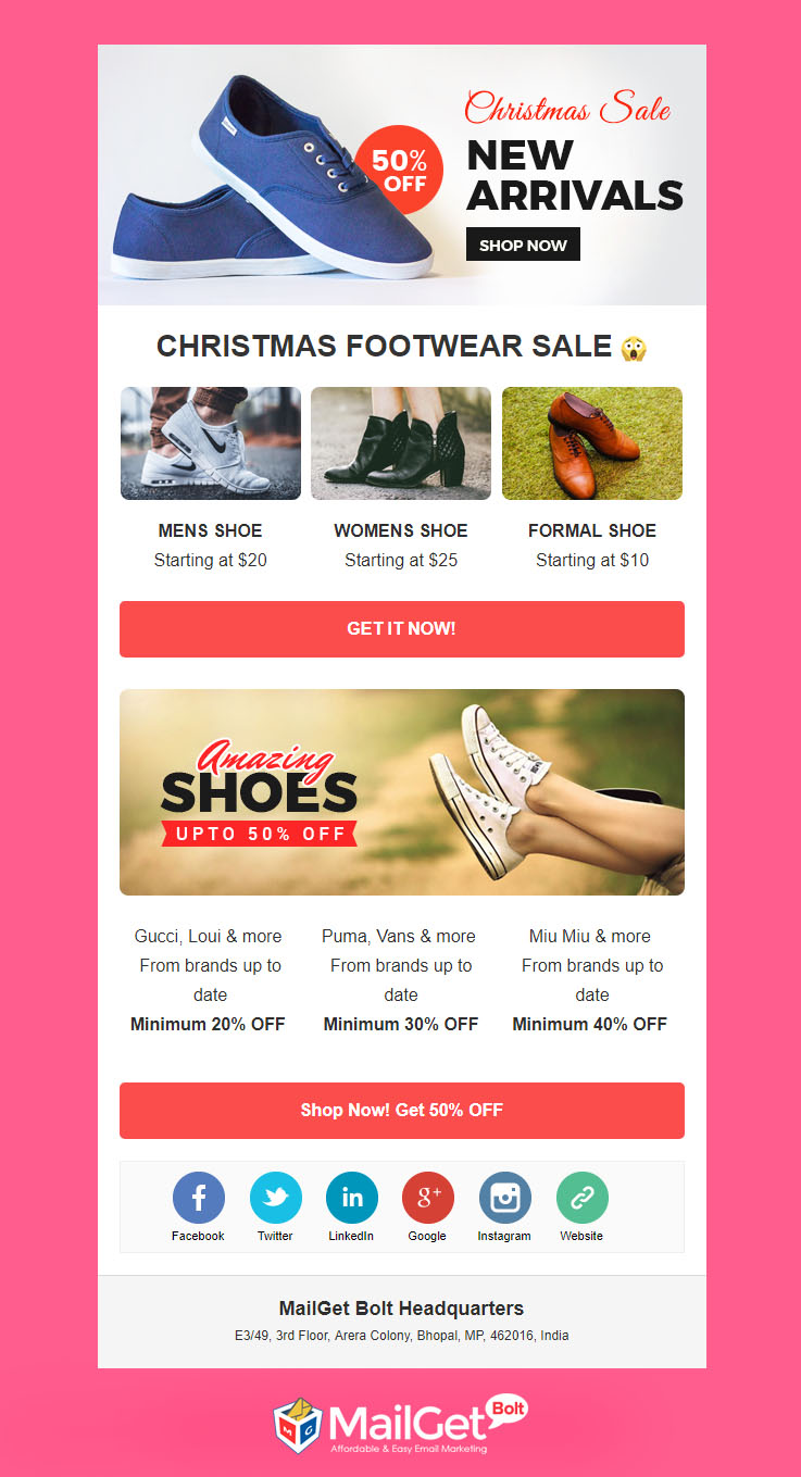 5 free christmas email templates responsive customizable formget