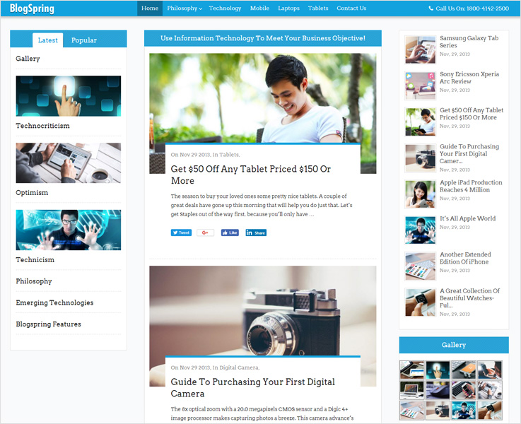 BlogSpring wp theme