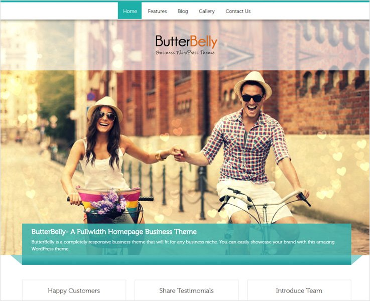butterbelly best corporate wordpress theme
