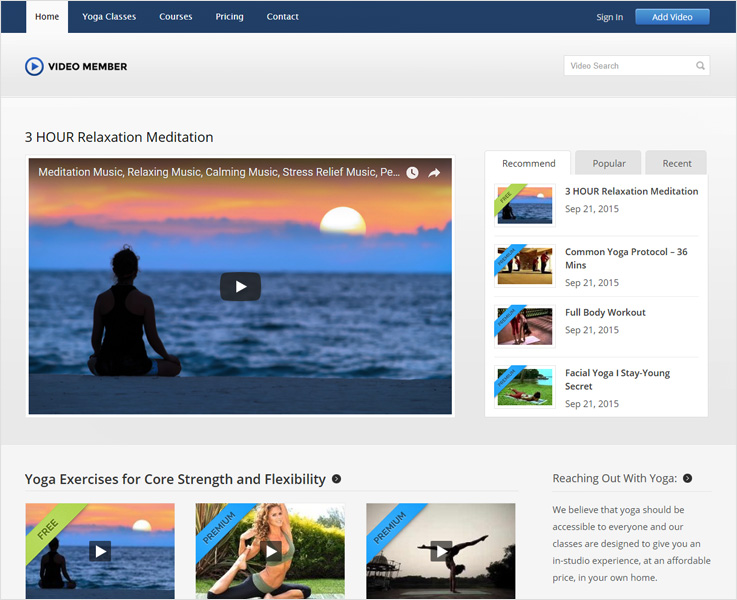 video member best video subscription wordpress theme