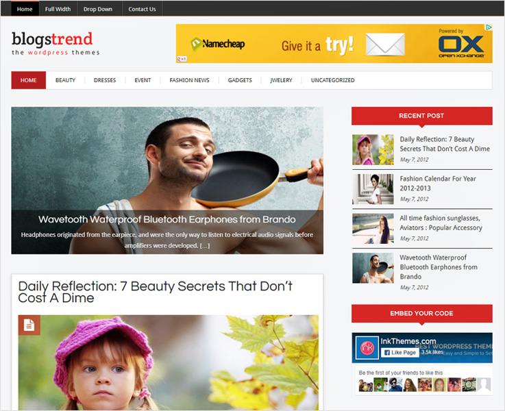blogstrend premium food theme