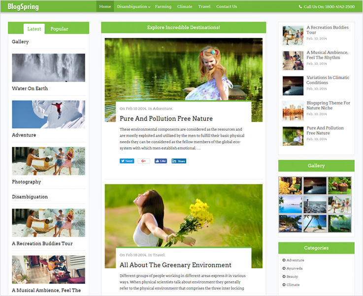 blogspring best blog wordpress theme
