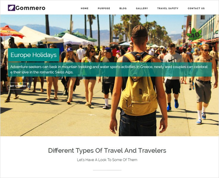 gommero best travel wordpress theme