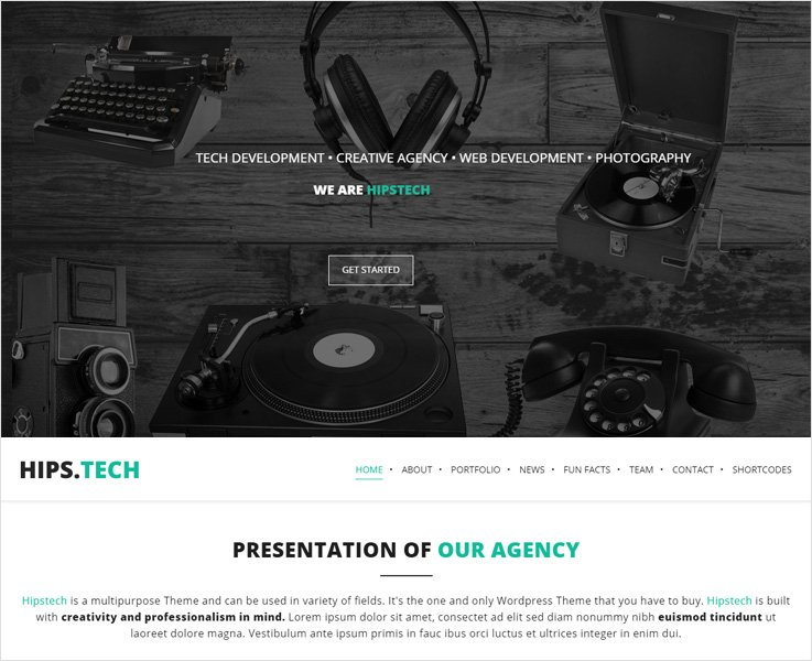 Hipstech wp theme