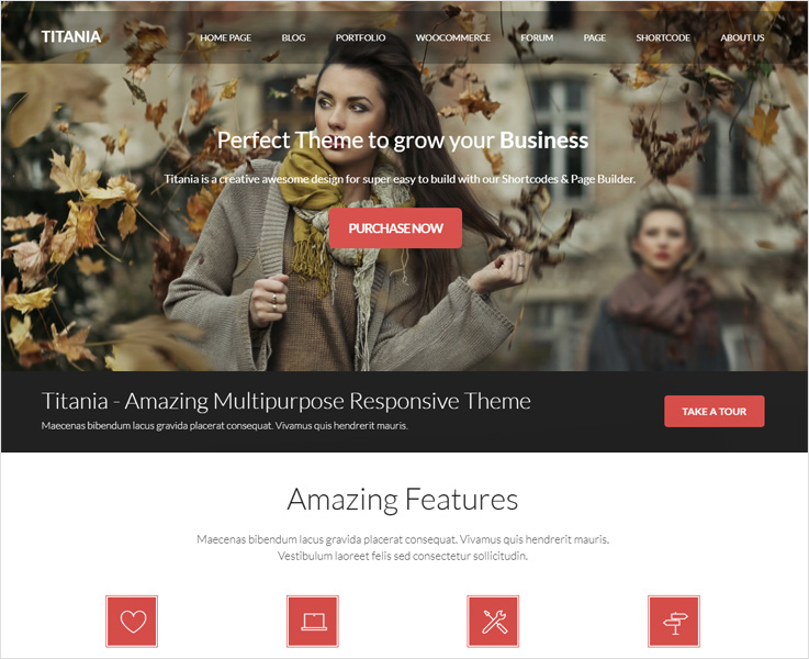 titania best ecommerce wordpress theme