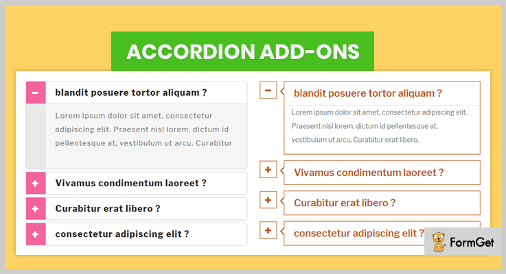 Accordion add-ons Accordion Plugins