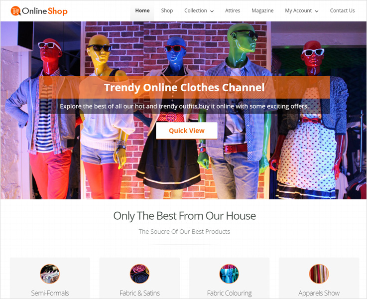onlineshop wodpress theme