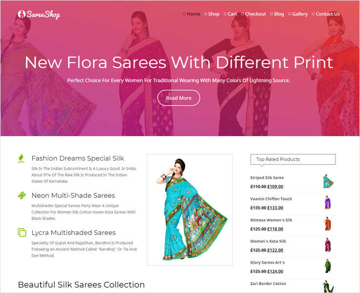 Sareeshop wordpress theme