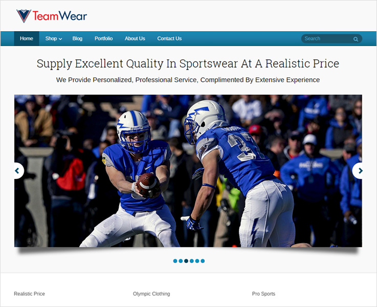 Team-wear WordPress theme