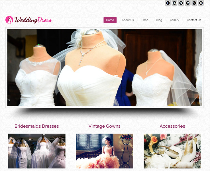 Wedding-dress WordPress theme