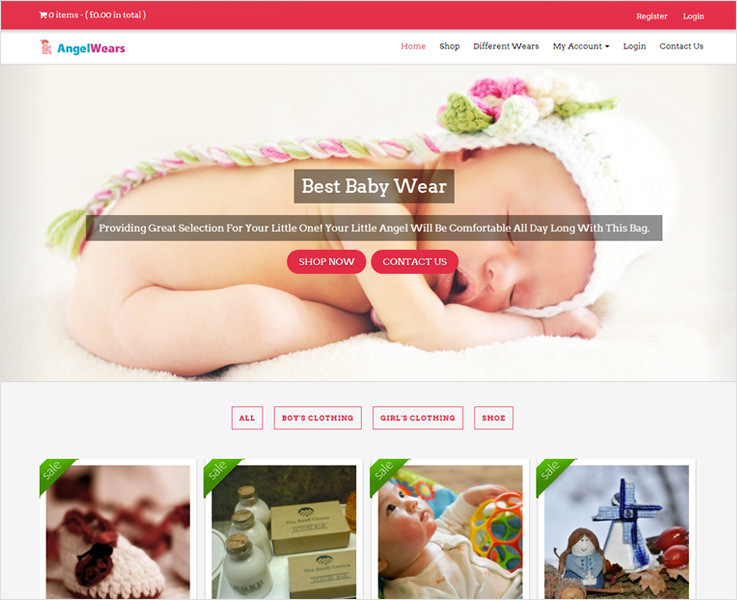 Angel Wear WordPress theme