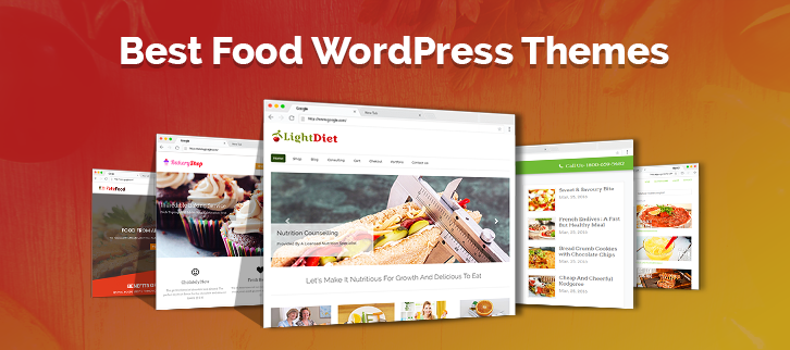 10+ Best Food WordPress Themes 2018