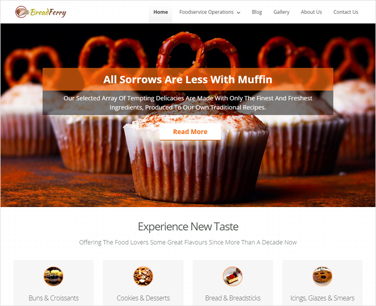 breadferry food wordpress theme