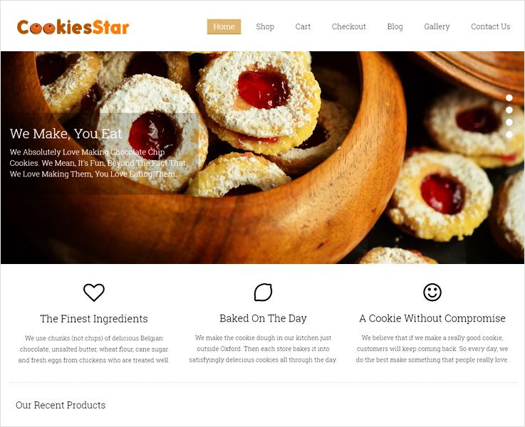 CookiesStar WordPress theme