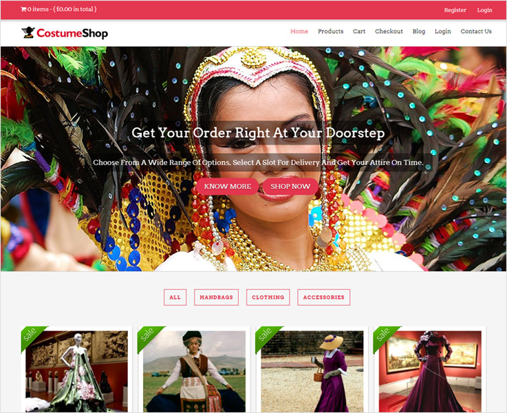 Costume-shop WordPress theme