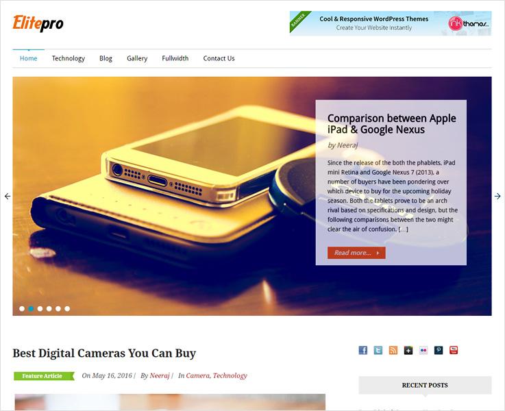 Elitepro WordPress theme