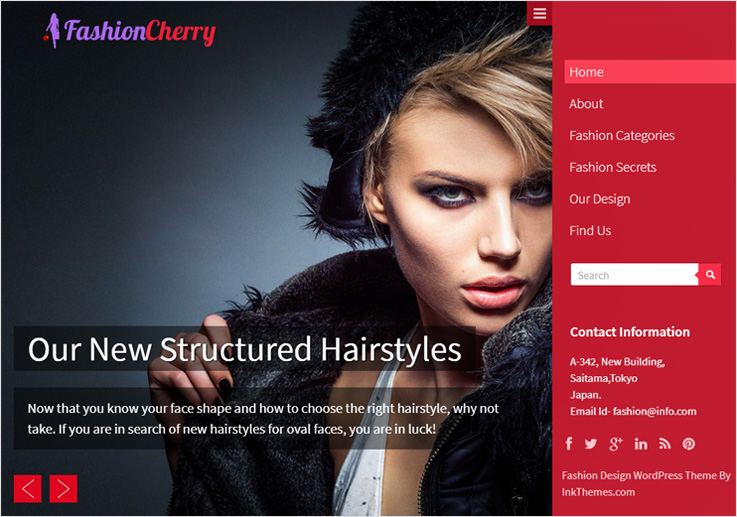 fashion cherry WordPress theme