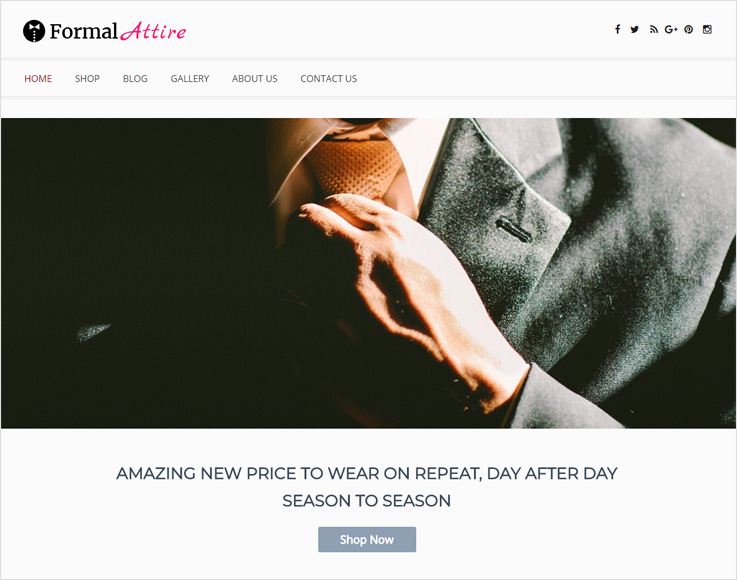 Formal-Attire WordPress theme