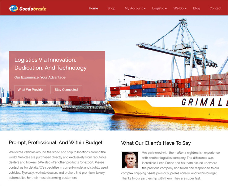 Goodstrade WordPress theme