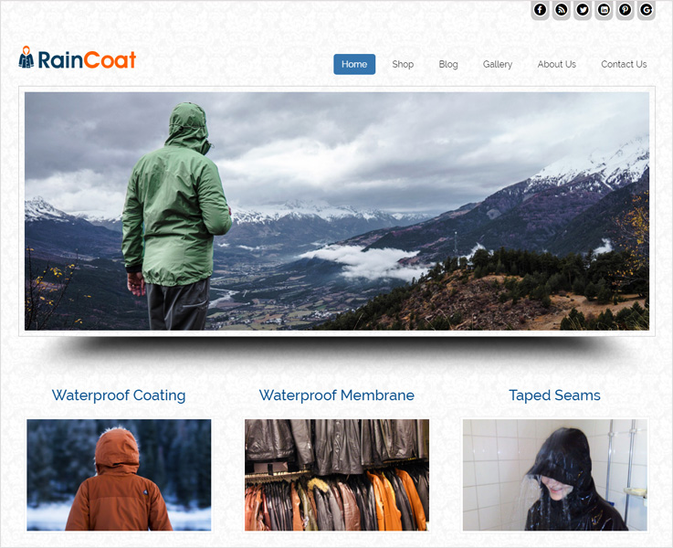 rain-coat WordPress theme
