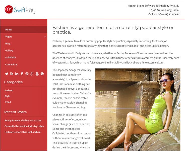 SwiftRay WordPress theme