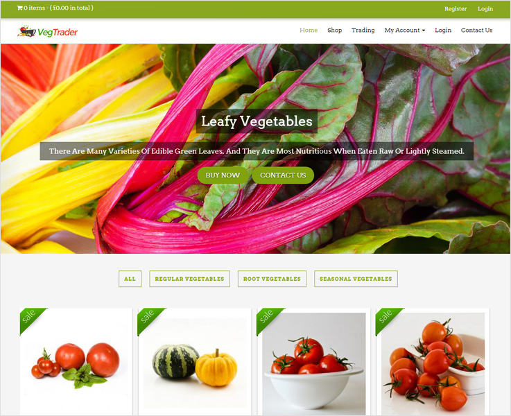 vegtrader wordpress theme