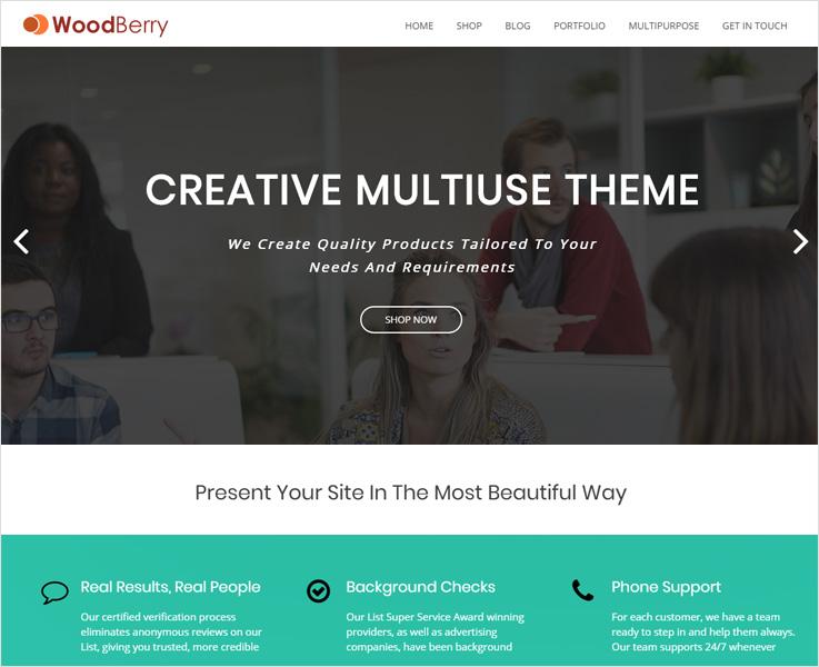 WoodBerry WordPress theme
