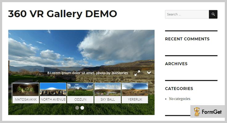 360 VR Gallery DEMO