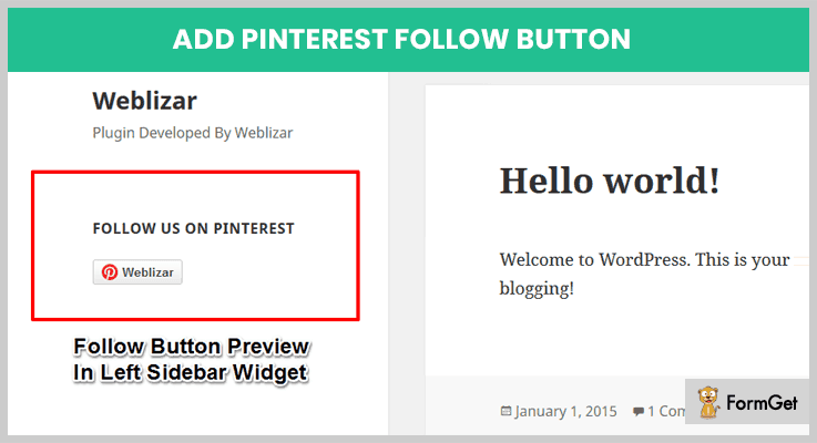 Pinterest Follow Button