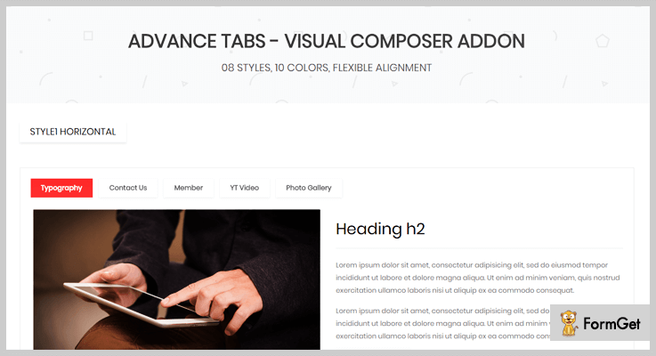 Advance Tabs For Visual Composer