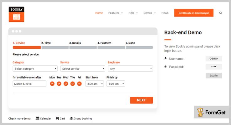 Bookly Booking WordPress Plugins