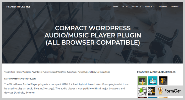 compact audio player