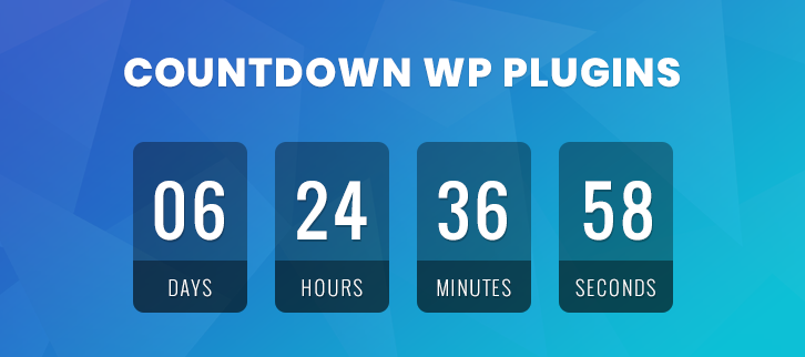7+ Countdown WordPress Plugins (Free and Paid) | FormGet