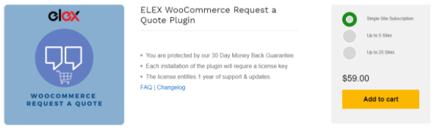 ELEX WooCommerce Request a Quote Plugin