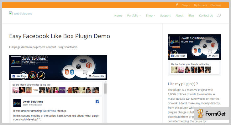 Easy Facebook Like Box-Facebook WordPress-Plugins