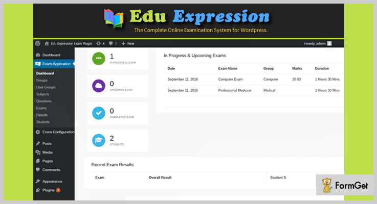 Edu Expression Online Examination System WP