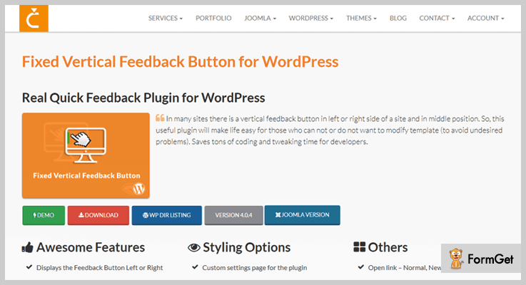 Fixed Vertical Feedback Button for WordPress-WordPress Feedback Plugins