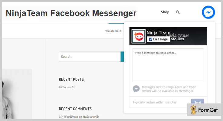 NinjaTeam Facebook Messenger-Facebook WordPress-Plugins