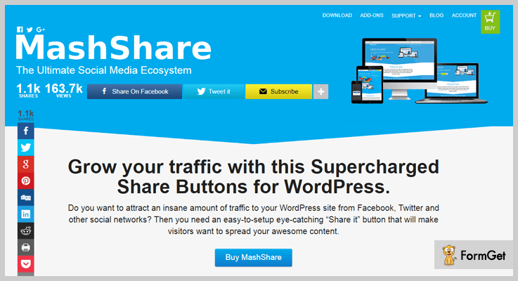 mash-share-social media WordPress plugins