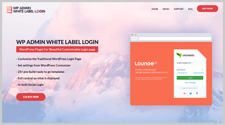 WP Admin White Label Login - Best Login WordPress Plugins