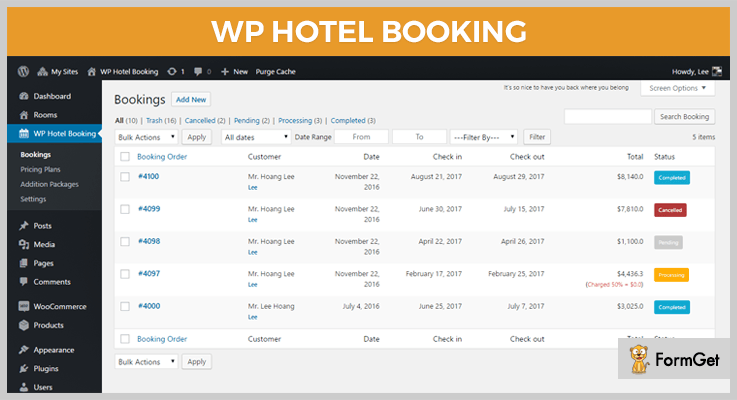 hotel Booking WordPress Plugins