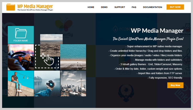 WP Media Manager - Best File Manager WordPress plugin