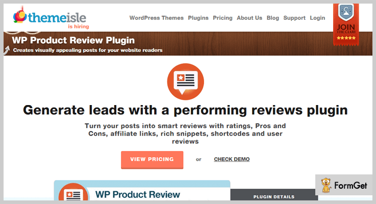 WP Product Review WordPress Plugins