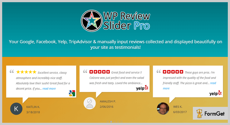 WP Yelp Review Slider