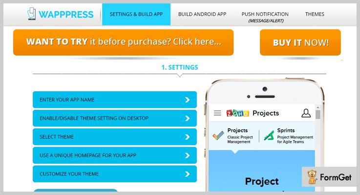 Wapppress WordPress Web App Plugin