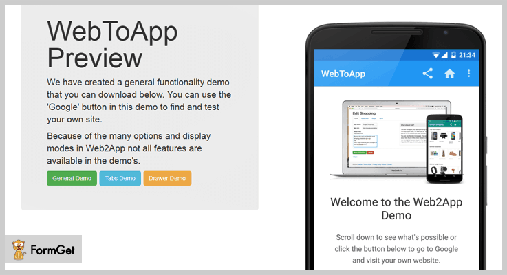 Web2App WordPress Web App Plugin