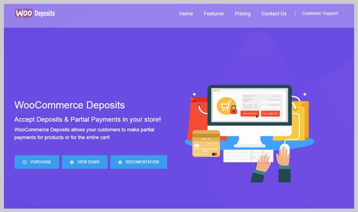 WooCommerce Deposits - Accounting WordPress Plugins