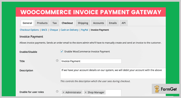 Invoice WordPress Plugins Free And Paid FormGet - Woocommerce invoice system