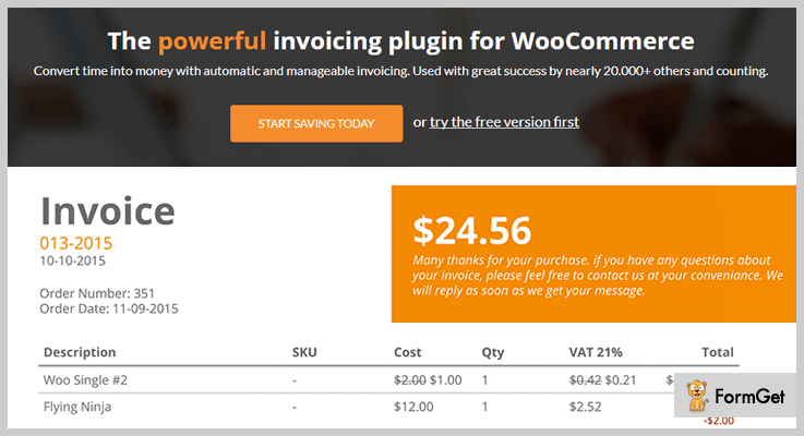 WooCommerce PDF Invoices